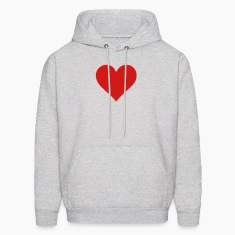 Heart Love (1c) Hoodies