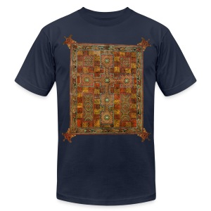 Lindisfarne Gospels: Cross-carpet page introducing Saint Jerome's letter to Pope Damascus - Men's T-Shirt by American Apparel