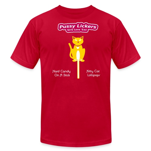 Pussy Lickers - Kitty Shaped Lollipops - Mens Shirt - Men's  Jersey T-Shirt