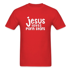 Jesus Loves Porn Stars (Men) - Men's T-Shirt