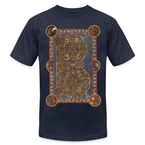 Munich Psalter page - Men's Fine Jersey T-Shirt