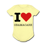 Baby Bodysuits ~ Baby Short Sleeve One Piece ~ I Heart Obamacare Tee Shirt (Women's)