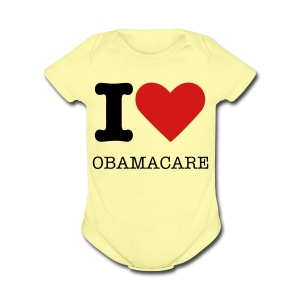 I Heart Obamacare Tee Shirt (Women's) - Short Sleeve Baby Bodysuit