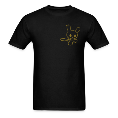 Rockin bunny rockstar music bunnies rabbit hare cony leveret bimbo easter guitar bass sound earring T-Shirts