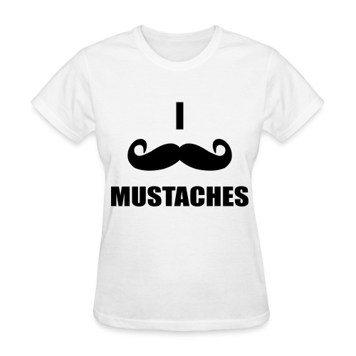 MUSTACHES!  - Women's T-Shirt