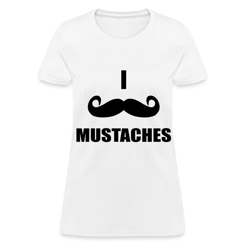 MUSTACHES!  - Women's T-Shirt