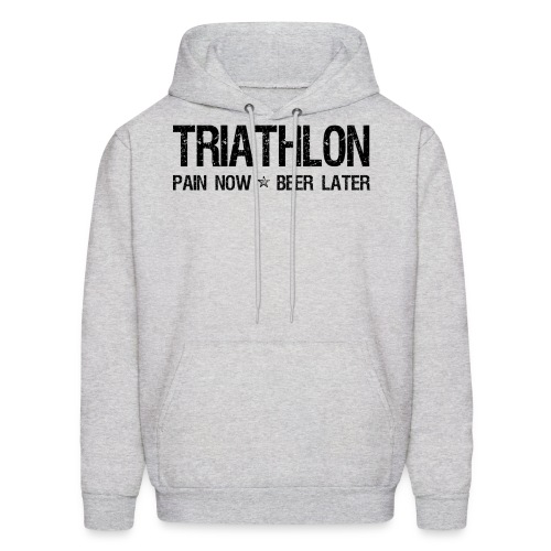 Triathlon Pain Now Beer Later - Men's Hoodie