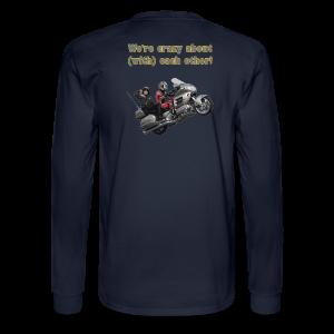 Men's LS Hanes T-Back-wingwheelie-crazy - Men's Long Sleeve T-Shirt