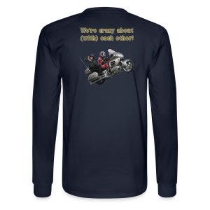 Men's LS Hanes T-Back-wingwheelie-crazy - Men's Long Sleeve T-Shirt
