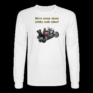 Men's LS Hanes T-Front-wingwheelie-crazy - Men's Long Sleeve T-Shirt