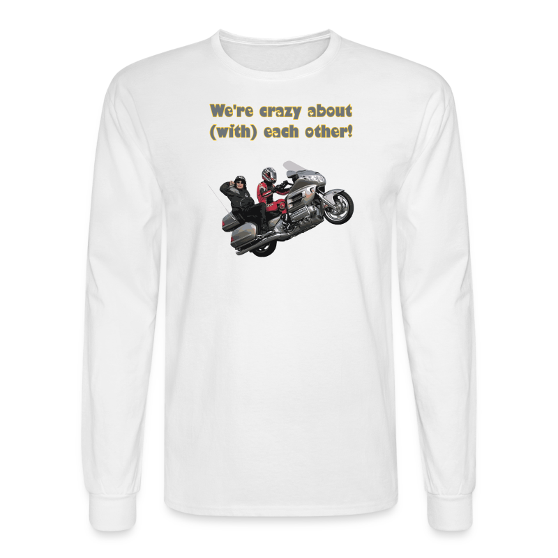 Men's LS Hanes T-Front-wingwheelie-crazy - Men's Long Sleeve T-Shirt