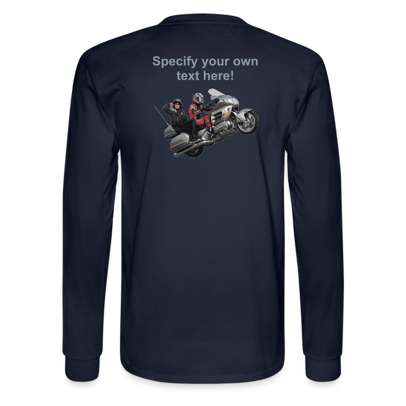 Men's LS Hanes T-Back-wingwheelie-custom - Men's Long Sleeve T-Shirt