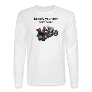 Men's LS Hanes T-Front-wingwheelie-custom - Men's Long Sleeve T-Shirt