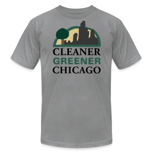 Cleaner Greener Chicago - Men's T-Shirt by American Apparel