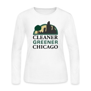 Cleaner Greener Chicago - Women's Long Sleeve Jersey T-Shirt