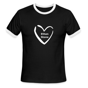 Heart Ethan Stone black ringer T - Men's Ringer T-Shirt