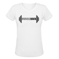 T-Shirts ~ Women's V-Neck T-Shirt ~ Women's V-Neck MuscleHack T-Shirt