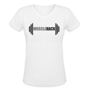 Women's V-Neck MuscleHack T-Shirt - Women's V-Neck T-Shirt
