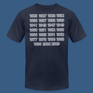 NY Championship Years - Men's Fine Jersey T-Shirt