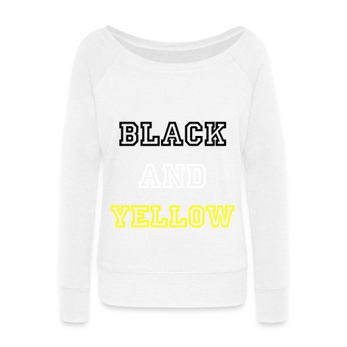 Black And Yellow Sweatshirt - Women's Wideneck Sweatshirt