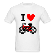 T-Shirts ~ Men's T-Shirt ~ I ♥ Bicycle