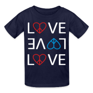 Kids' Shirts ~ Kids' T-Shirt ~ Peace Love