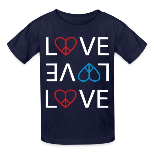 Peace Love - Kids' T-Shirt