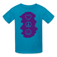 Kids' Shirts ~ Kids' T-Shirt ~ Peace Love Happiness