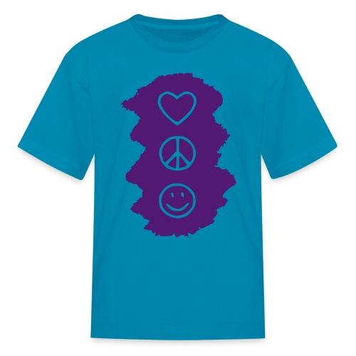 Peace Love Happiness - Kids' T-Shirt