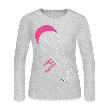 watch the leashes kitesurfing kite surfer leashes sport watersport beach sun surfing wave sea active Long Sleeve Shirts