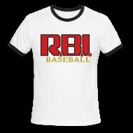 T-Shirts ~ Men's Ringer T-Shirt ~ R.B.I. Baseball