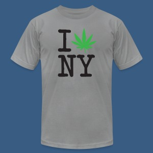 I Weed New York - Men's T-Shirt by American Apparel