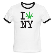 T-Shirts ~ Men's Ringer T-Shirt by American Apparel ~ I Weed New York