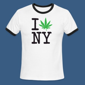 I Weed New York - Men's Ringer T-Shirt