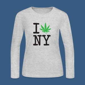 I Weed New York - Women's Long Sleeve Jersey T-Shirt