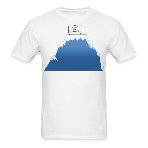 Tip of the Lifeberg - Men's T-Shirt