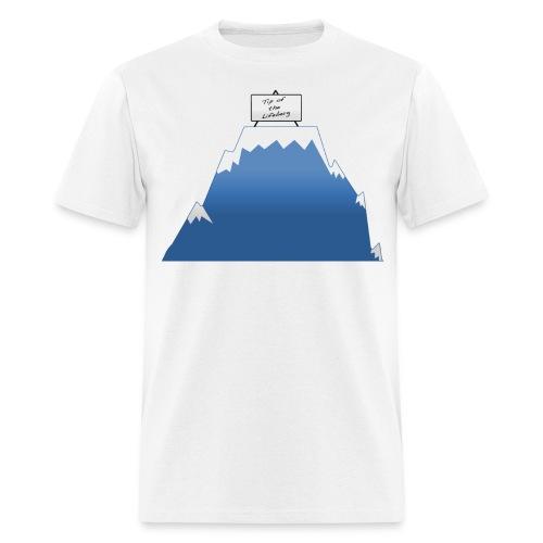 Tip of the Lifeberg - Men's T-Shirt
