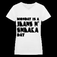 Women's T-Shirts ~ Women's V-Neck T-Shirt ~ [SHINee] JH Sneaka