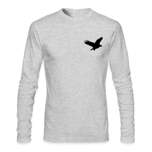 L Grey Long Sleeve W/ Eagle Landing - Men's Long Sleeve T-Shirt by Next Level