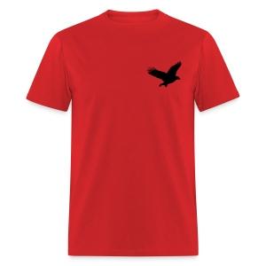 Red Short Sleeve W/ Eagle Landing - Men's T-Shirt