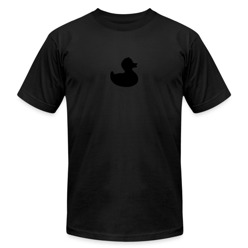 duckie - fuzzy black on black - Men's T-Shirt by American Apparel