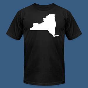 New York State Silhouette - Men's T-Shirt by American Apparel
