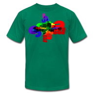 T-Shirts ~ Men's T-Shirt by American Apparel ~ Mellowvision Scatter Brain T