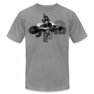 T-Shirts ~ Men's T-Shirt by American Apparel ~ Mellowvision Scatter Brain B&W T