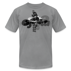 Mellowvision Scatter Brain B&W T - Men's T-Shirt by American Apparel