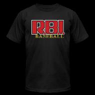 T-Shirts ~ Men's T-Shirt by American Apparel ~ R.B.I. Baseball