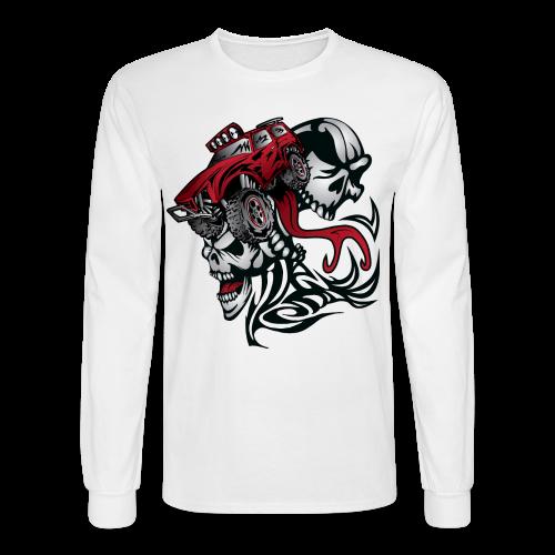 Flamed Skull Truck - Men's Long Sleeve T-Shirt