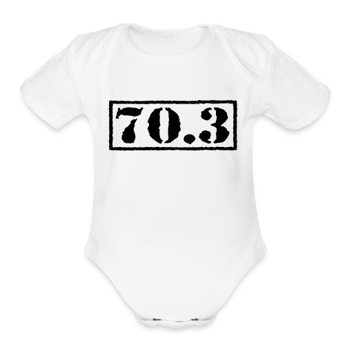 Top Secret 70.3 - Organic Short Sleeve Baby Bodysuit