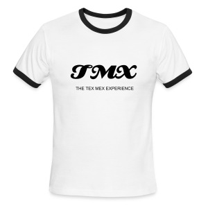 TMX WHITE/BLACK T'S - Men's Ringer T-Shirt