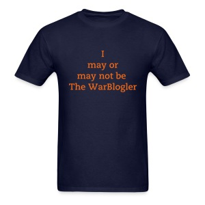 WarBlogler - Orange Text - Men's T-Shirt